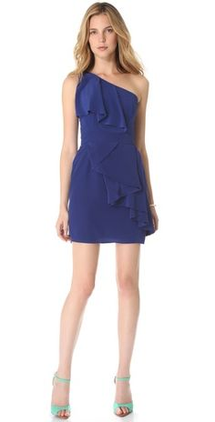 Shoshanna Sadie One Shoulder Dress   SHOPBOP