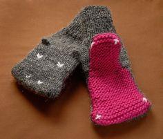 PATTERN  Knit Hippopotamus Mittens  Adult Sizes  by KnitKnit, $5.00