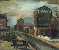 Paisaje de París, c. 1927, óleo s/tela, 58 x 67,5 cm. Col. privada