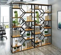 Install a Room Divider Kit or build an expensive wall? Living Room Partition Design, Living Room Divider, Room Partition Designs, Living Room Decor, Partition Ideas, Room Divider Shelves, Display Shelves, Shelving, Ikea Room Divider