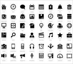 """200+ """"Reflection"""" Icons for mobile apps and websites - MightyDeals"""