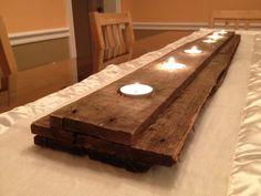 Pallet Wood Candleholder.