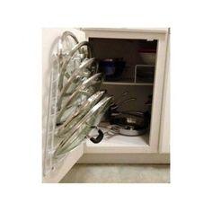 kitchen compost holder for cupboard door | Kitchen Storage Door Cabinet Pot Lid Rack Cover Holder ...