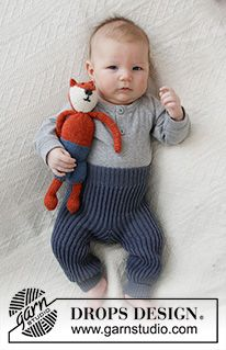 Baby - Free knitting patterns and crochet patterns by DROPS Design Baby Knitting Patterns, Baby Knitting Free, Baby Cardigan Knitting Pattern, Easy Knitting, Pants Pattern, Crochet Patterns, Drops Design, Drops Baby, Magazine Drops