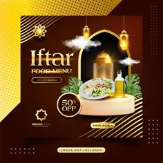 YusufSangdes | Freepik Iftar, Social Media Template, Social Media Design, Food Menu, Ramadan, Gift Voucher Design, Freelance Graphic Design, Gift Vouchers, Menu Design