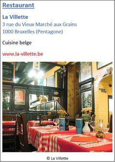 Restaurant La Villette - 3 rue du Vieux Marché aux Grains - Pentagone