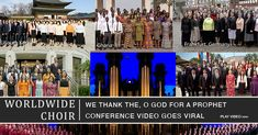 "VIDEO: Worldwide Choir sings ""We Thank Thee O God for a Prophet"" at end of General Conference Conference Talks, General Conference, Lds News, Visiting Teaching Handouts, Tabernacle Choir, Relief Society Activities, Singing Time, Primary Lessons, Latter Day Saints"