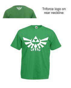 Legend of Zelda Triforce Hyrule Link T-Shirt Tee N64 Wii U SNES 3DS XBOX PS4
