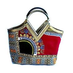 Dashiki Print Elegant Modern Fashion Handbag. African print Bag This cute tote bag is for the stylish woman. Complete with a matching shoulder bag and Make up case, this collection is the perfect intr
