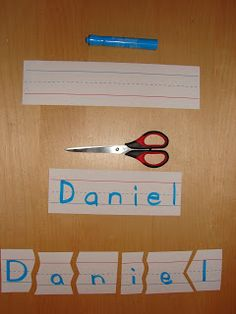 How to Teach Your Child to Read - Name Puzzle - great for teaching kids how to spell their name. Many of my graders dont know how to spell their last names. Give Your Child a Head Start, and.Pave the Way for a Bright, Successful Future. Toddler Learning, Fun Learning, Teaching Kids, Kindergarten Learning, Learning Quotes, Mobile Learning, Preschool Names, Preschool Activities, Writing Activities
