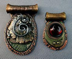 *POLYMER CLAY ~ Copper Ring Polymer clay pendants by MandarinMoon