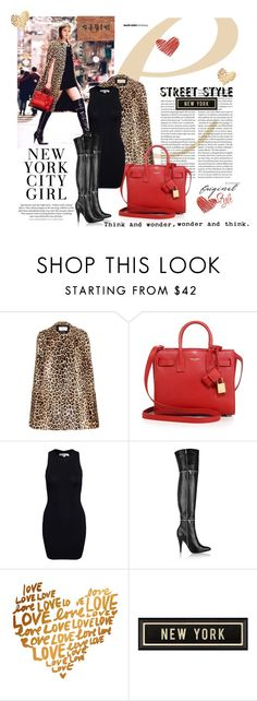 """""""Street style"""" by lolalevjesrcna ❤ liked on Polyvore featuring moda, Yves Saint Laurent, Glamorous, H&M, Spicher and Company y Mulberry"""