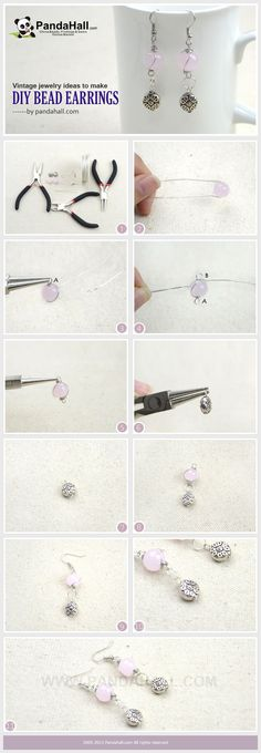 Tutorial on DIY bead earrings from pandahall.com