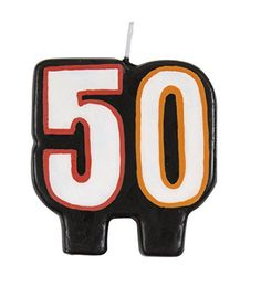 Birthday Cheer 50th Birthday Candle >>> Check out this great product. (This is an affiliate link)