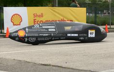 https://flic.kr/p/noKacM | Shell Eco-marathon Americas 2014 | The UT2, #97, Prototype, running on Gasoline, competing for team University of Toronto Supermileage from University of Toronto, Ontario, Canada during day 3 of the Shell Eco-marathon Americas 2014, Saturday, April 26, 2014, at the George R. Brown Convention Center in Houston. (Jack Thompson/AP Images for Shell)