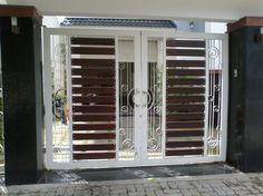1 new message Gate Wall Design, Home Gate Design, House Main Gates Design, Steel Gate Design, Front Gate Design, Main Door Design, Wooden Door Design, House Front Design, Wrought Iron Driveway Gates