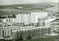 1974. Eger, Csebokszári városrész (Fotó: Molnár István) Hungary, Multi Story Building