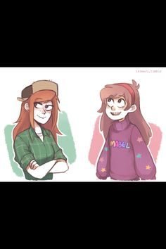 Really cute Wendy and Mabel art by Ikimaru