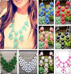 Bib Statement Necklaces - Choose from Bubble or Daisy Style in Many Colors!