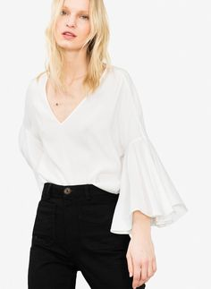 Uterqüe Ireland Product Page - What's new - Belled sleeve top - 85
