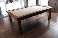 Oak colour 3 Modern Pool Table range with a Taupe cloth www.luxury-pool-tables.co.uk
