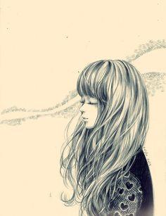 hair singing by nhienan.deviantart.com on @deviantART