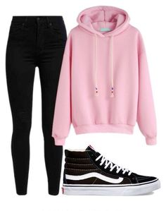 A fashion look from January 2017 featuring pink hoodie, levi skinny jeans and black shoes. Browse and shop related looks. Girls Fashion Clothes, Teen Fashion Outfits, Disney Outfits, Swag Outfits, Scene Outfits, Fashion Dresses, Cute Lazy Outfits, Cute Outfits For School, Outfits For Teens