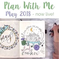 Head over to my bio for the link to the Full May Plan With Me Video! . May is my favorite month (which may or may not be because my birthday is in May - wow that was a lot of 'may's) and it's also the last month that really feels like springtime with florals and pastels so I was happy to commemorate that with lots of succulent and flower doodles! . Please subscribe to my channel if you haven't yet! And I would love to know if this video helped you happy May!