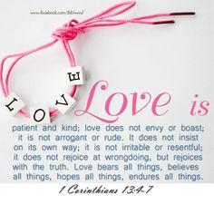 1  CORINTHINANS  13:  4-7