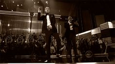 Jay-Z Justin Timberlake Suit and Tie finger pointing