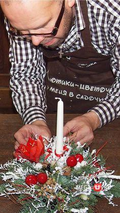 Мастер-класс от Игоря Линника:рождественский букет со свечой | информационное агентство «Мега-Урал»