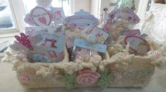 shabby chic crochet basket- Pinterest inspired project