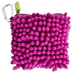 Fuzzy Fun. Our fuzzy pink coin purse is convenient and ready to tag along on all your adventures, so show it some love! You buy, Yoobi gives - For every Yoobi item you purchase, a Yoobi item will be d