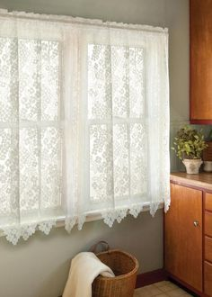 Heritage Lace Semi Opaque Bee 45 In L Polyester Valance . Heritage Lace Semi Opaque Bee 45 In L Polyester Valance . Heritage Lace Semi Opaque Bee 45 In L Polyester Valance . Home and Family Shabby Chic Interiors, Shabby Chic Homes, Shabby Chic Furniture, Shabby Chic Decor, Home Depot, Lace Curtain Panels, Rod Pocket Curtains, Floral Curtains, Boho Curtains