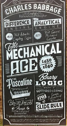 From Flickr: Nice use of type in chalkboard lettering.