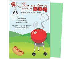 Free Bbq Party Invitations Templates  Party Invitation Templates
