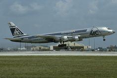 LAC Colombia HK-2632X DC-8-53F C/n 45768 MIA  09.04.1984