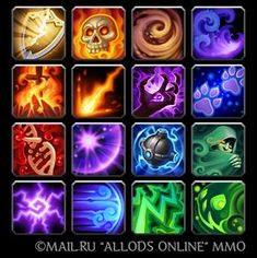 Icons for mmo 'Allods Online' - GalinaPyanicheva @ deviantART