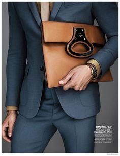 ღღ Kevin Sampaio Showcases Luxe Fall Bags for Vogue Hombre