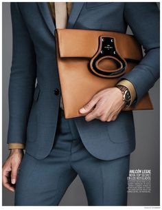 ღღ Kevin Sampaio Showcases Luxe Fall Bags for Vogue Hombre