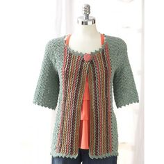 Patons Crochet Jacket Free Intermediate Women's Cardigan Crochet Pattern Drapey shells and vertical stripes with a feminine edge. Crocheted in Patons Grace. Skill Level: Intermediate Sizes: XS/S M L XL 2/3XL 4/5XL Free Pattern More Patterns Like This!