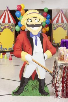 Carnival Announcer Standee