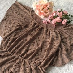 HOLIDAY SALE Lace, winged peplum top! Beautiful on! Brown color with a light redder lining. No trades and PayPal! Charlotte Russe Tops