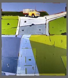 Emmett Kerrigan   Old Barn Blue Gates, Oil on Canvas, 48 X 48, 2006