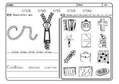 Fichas infantiles para aprender a leer y aprender a escribir con la letra C. Dibujos Lectoescritura con letra C para colorear. Lectoescritura_CyQ_4