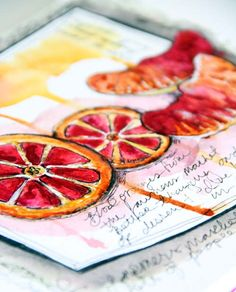 Alisa Burke - food as art. Considering how much I love food, I don't want to forget it as a future sketchbook subject.
