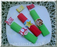 Mario Bros. Party Napkin Rings