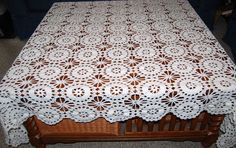 Vintage Tablecloth Crochet Rectangle by CheekyVintageCloset, $44.00