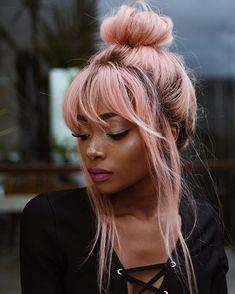 Idée Couleur & Coiffure Femme 2017/ 2018 : 7b3774562f719f0ad52601952688ac0dpastel-pink-hair-black-girl-pastel-pink-hair-o
