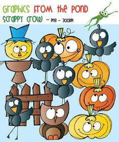 Scrappy Crow Clipart